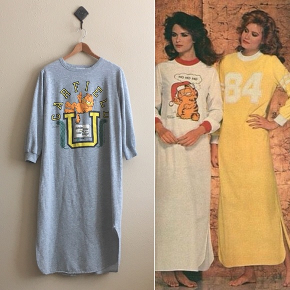Vintage Intimates Amp Sleepwear 80s Garfield Nightshirt
